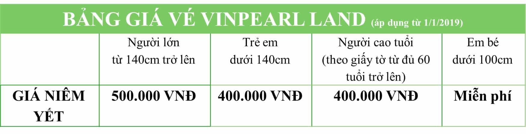 Bảng giá vé vinpearl land phú quốc