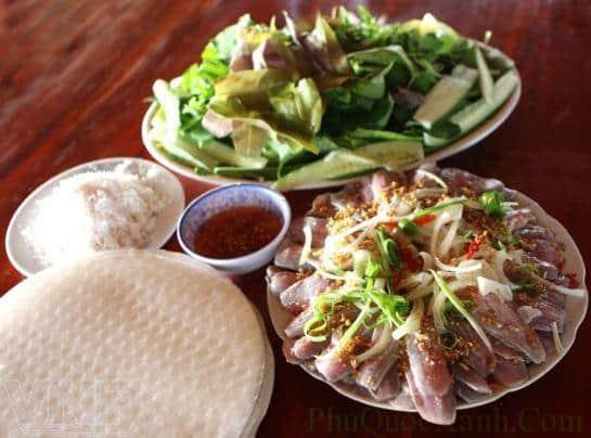 Món gỏi cá trích trứ danh của đảo Phú Quốc