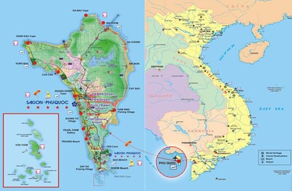 Vị trí địa lý đảo Phú QUốc