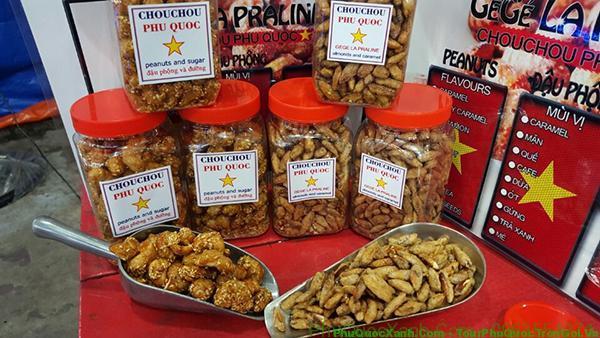 Các loại hương vị đậu phộng Phú Quốc