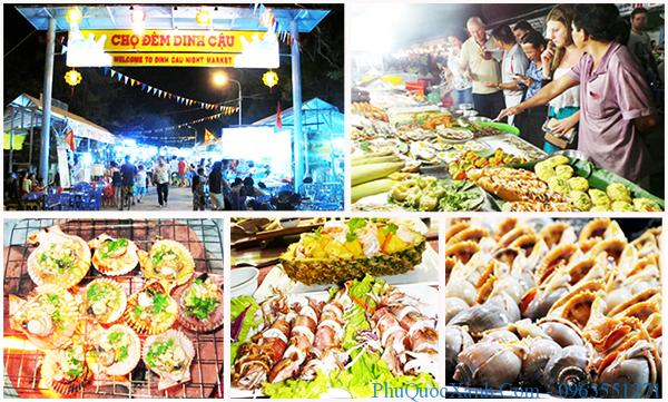 thưởng thức hải sản ở chợ đêm phú quốc