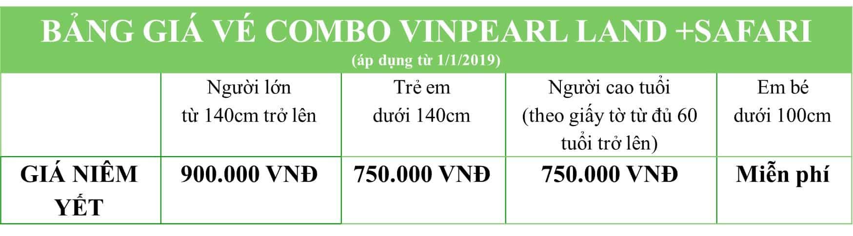 Bảng giá vé combo vinpearl Phú Quốc